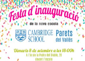Inauguración de la escuela de Parets