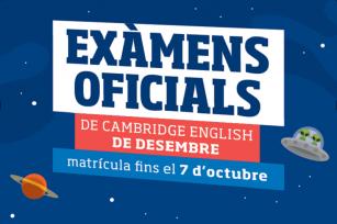 Convocatoria exámenes Cambridge English - diciembre