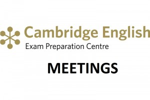 Reuniones exámenes de Cambridge en octubre