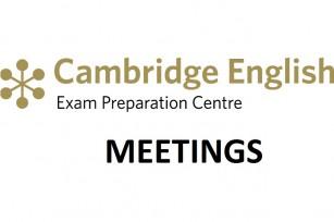 Cambridge exams' meetings in October