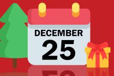 Calendario de Fiestas en Navidad